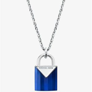 MK silver Padlock necklace